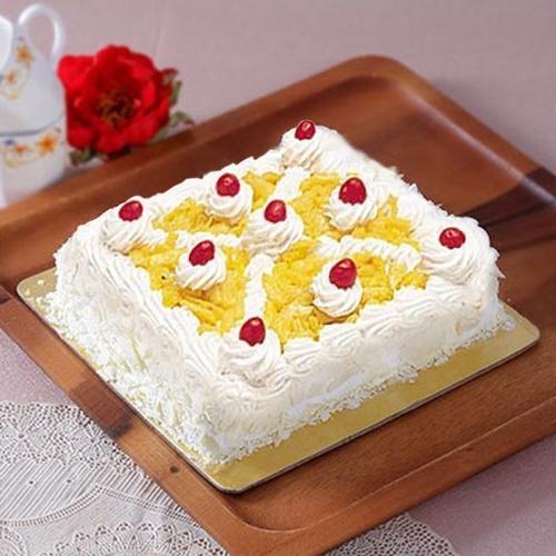 Tasty Eggless Pineapple cake
