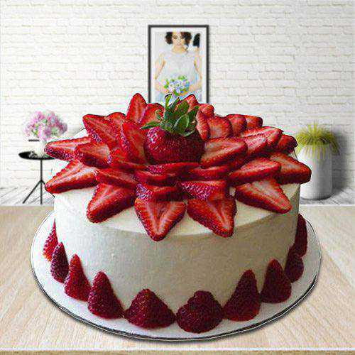 Ambrosial Strawberry Cake