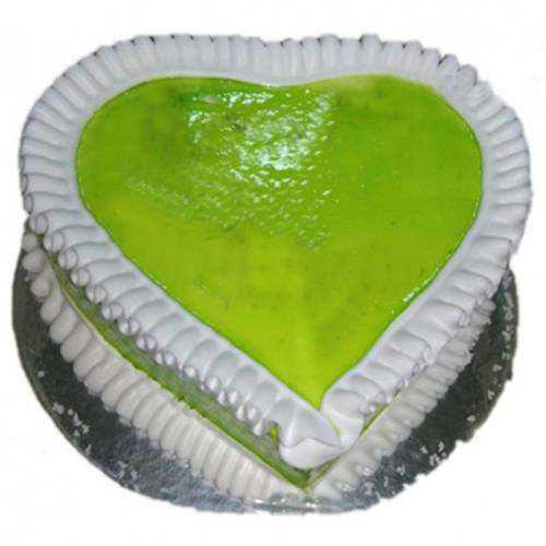 Satisfying Heart-Shape Kiwi Cake
