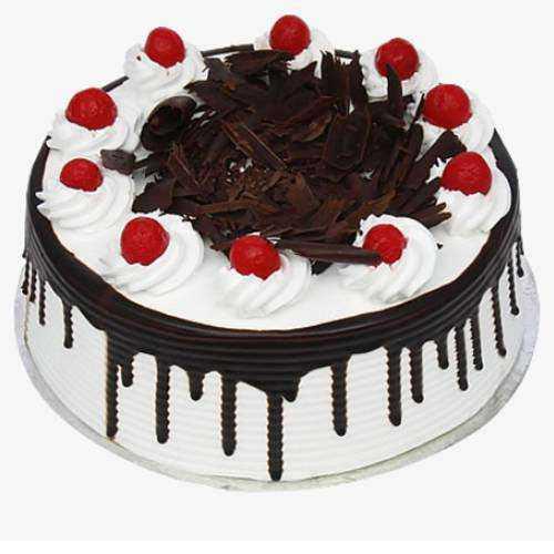Chocolate-Draped Black Forest Eggless Cake