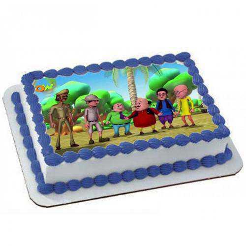 Made-Fresh Motu Patlu Cake for Kids