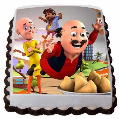 Specially-Design Motu Patlu Cake