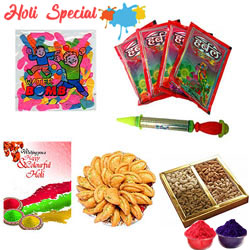 Enjoy Holi with Enthusiasm and Gaiety Gift Hamper
