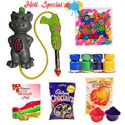 Holi Sprays with Colour and Chocolates Hamper