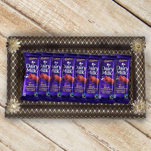 Enjoyable Sweet Finish Cadbury Dairy Milk Chocolates Gift Set