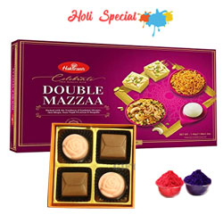 Joyful All Time Classic Haldirams Twin Mazza N Chocolates Hamper