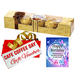 Remarkable Selection of Ferrero Rocher Chocolate Pack with CCD Voucher & Birthday Card