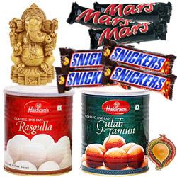 Lord Ganesha,sweets and chocos