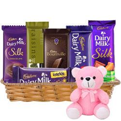 Online Gift Combo of Chocolates N Teddy