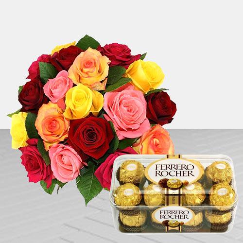 Pleasant Roses and Chocolaty Ferrero Rocher