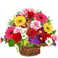 Pretty Basket of Exquisite Flowers with Isle Of Style