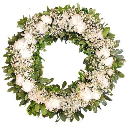 Rich Fresh Start Carnations Wreath