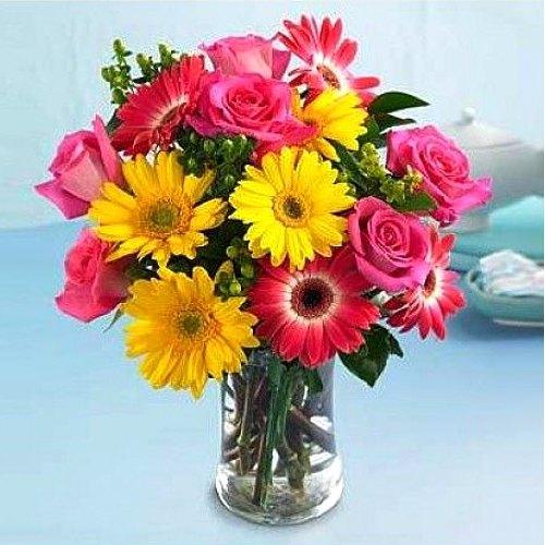 Gorgeous Autumn Beauty Bouquet in a Glass Vase