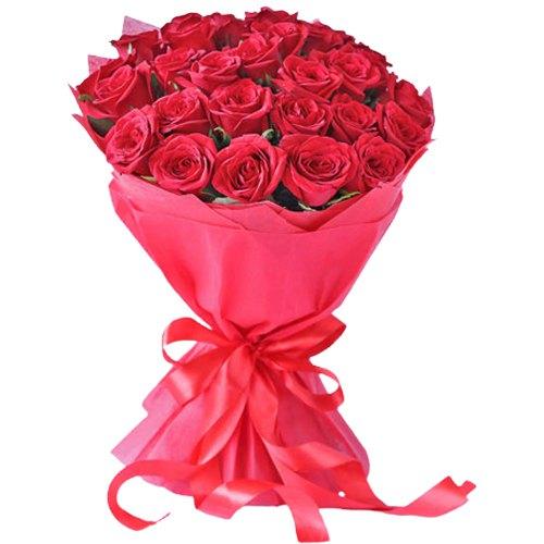 Elegant Pure Indulgence Love Red Roses Bouquet