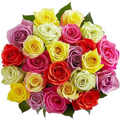 Artful Love Expression Mixed Roses Arrangement