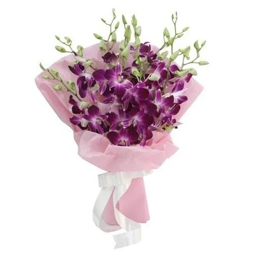 Royalty Selection Purple Orchids Bouquet