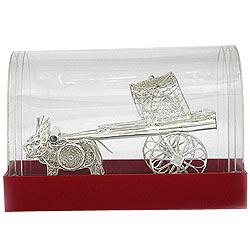 Beautiful Silver made Bullock Cart Handiwork