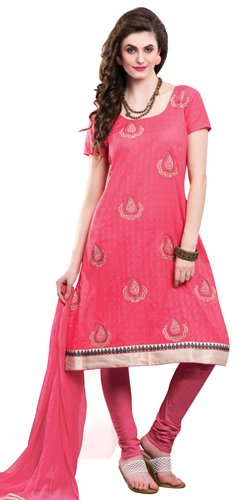 Graceful Chiffon Embroidered Salwar Kameez in Pink