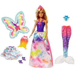 Trendy Baby Girls Fantasy 3-in-1 Rainbow Kingdom Barbie Kit from Mattel