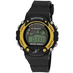 Fabulous Black Coloured Digital Watch from Sonata