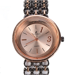 A Ravishing Watch of Black & Rose Gold  Color