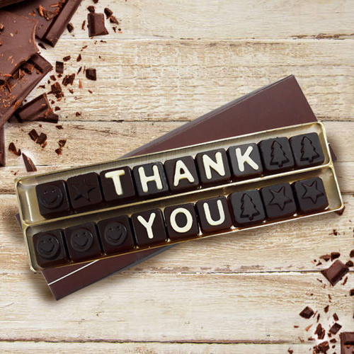 Thank You Homemade SMS Chocolate