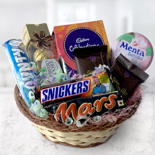 Delicious Chocolates Gift Basket