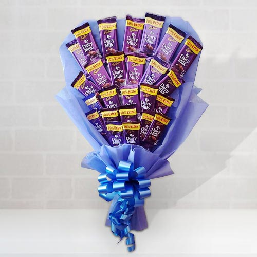 Yummy Bouquet of Cadbury Dairy Milk Chocolates