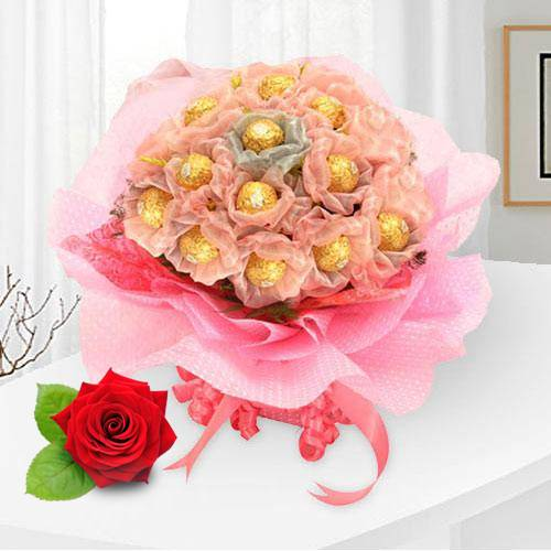 Enchanting Delicacies Ferrero Roacher Chocolate Bouquet