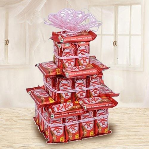 Amazing Three Tier Arrangement of Nestle Kitkat