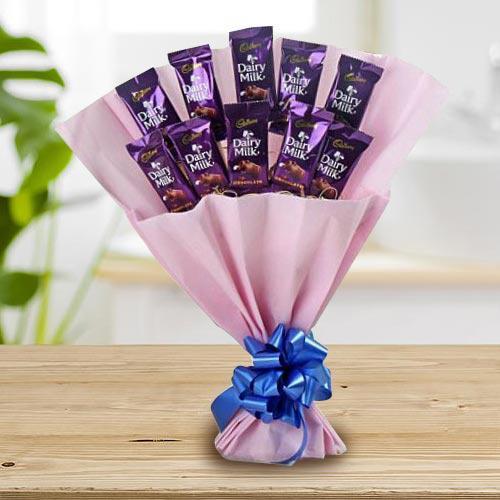 Marvelous Bouquet of Cadbury Dairy Milk Chocolates