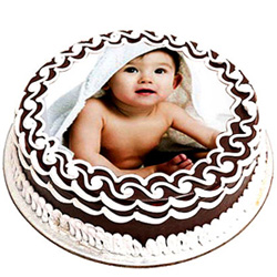 Enticing Chocolate Photo Cake