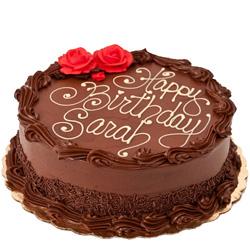 Freshly Made Birthday Chocolate Cake