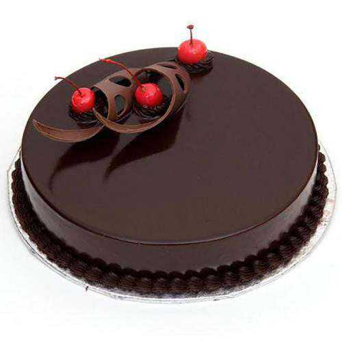 Glossy Dark Chocolate Cake
