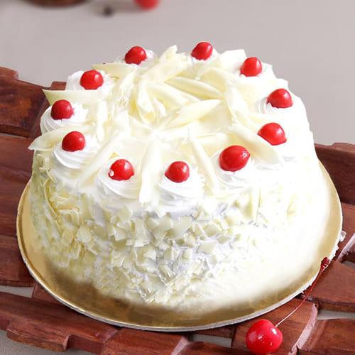 Tasty White Forest Cake