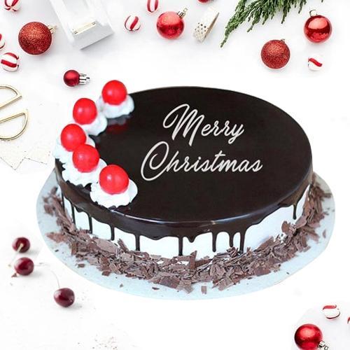 Amazing Merry-Xmas Black Forest Cake
