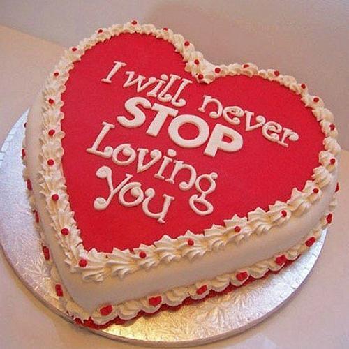 Delightful Heart Shape Chocolate N Red Velvet Fusion Cake