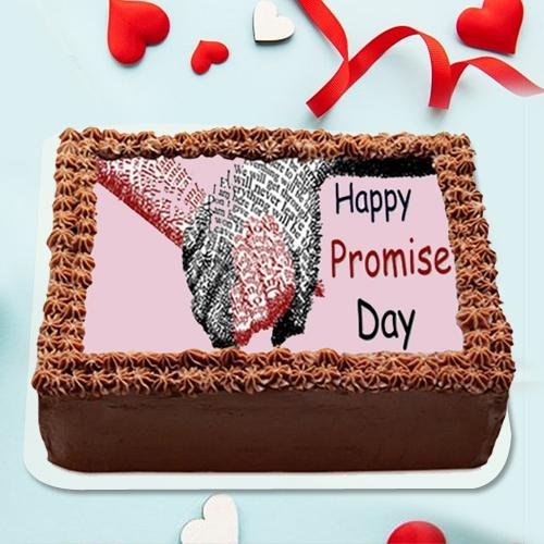 Beautiful Promise Day Photo Cake in Chocolate Flavor