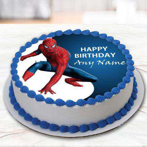 Tasty Spiderman Photo Cake