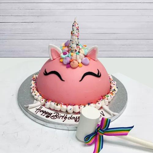 Designer Unicorn Smash Cake with Hammer