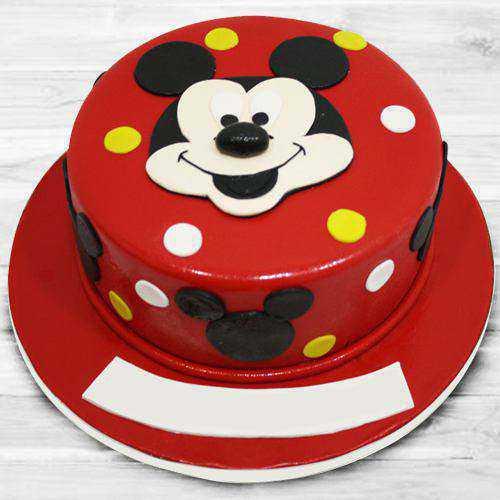 Delightful Mickey Mouse Fondant Cake for Kids
