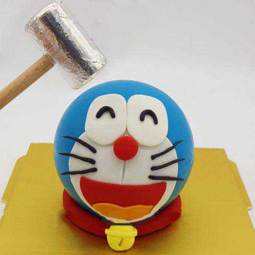 Blissful Doremon Smash Cake with Hammer for Kids