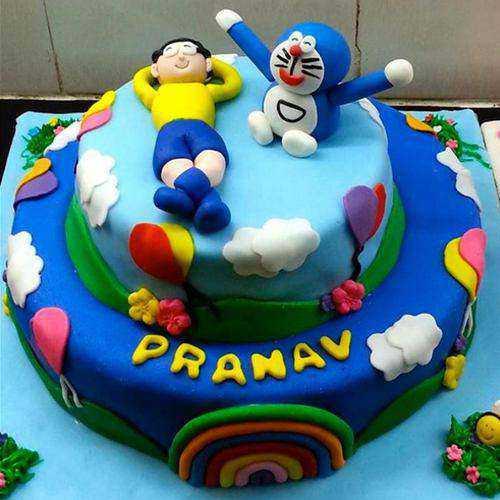 Delightful Doremon Theme Cake for Kids