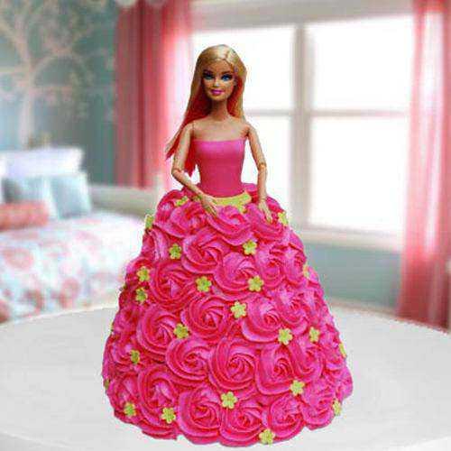 Irresistible Pink Barbie Cake for Birthday