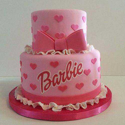 Sensational Two Tier Barbie Cake for Kids