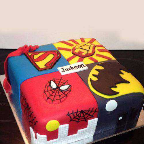 Delicious Birthday Special Super Hero Cake