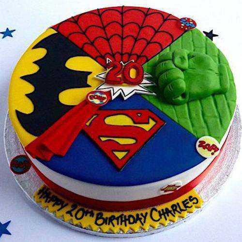 Tempting Kids Special Super Hero Egg-less Cake