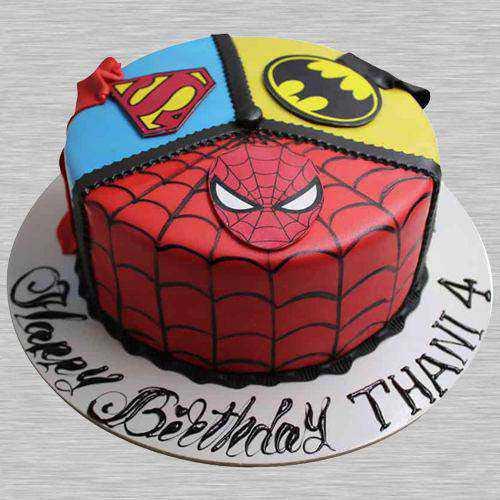 Treasured Super Hero Fondant Cake for Infants