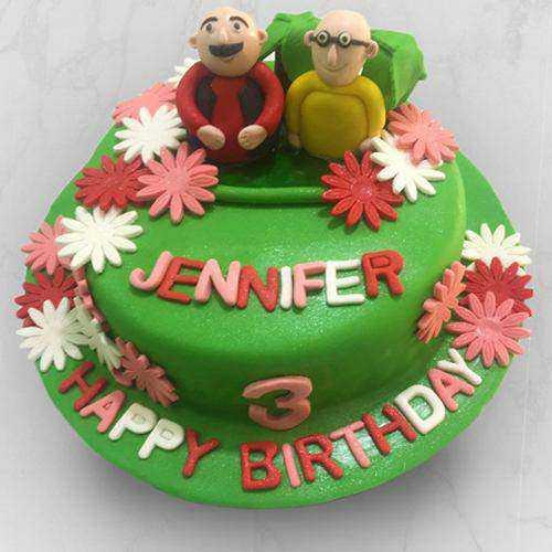 Devilishly Good Motu Patlu Fondant Cake for Kids