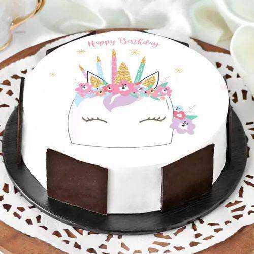 Devilishly Unicorn Designed Cake for Kids